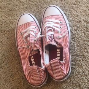 Converse red stripes size 6